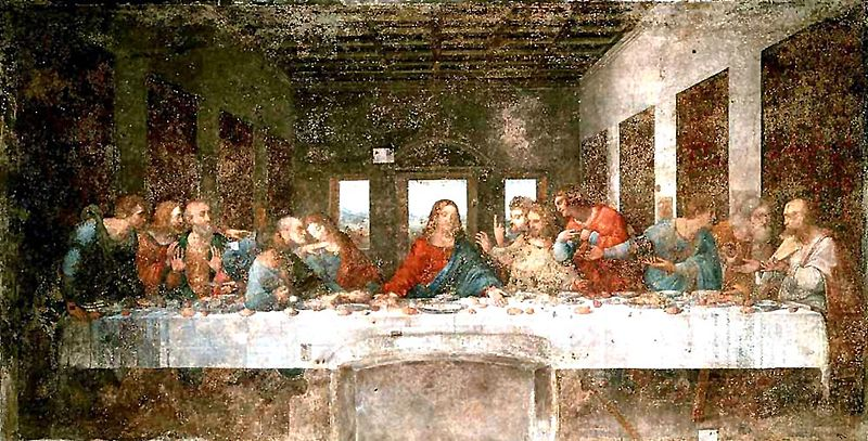 Last Supper before Restoration