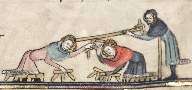 Marginalia - Invalids Fighting